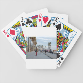 skating to venice beach bicycle playing cards