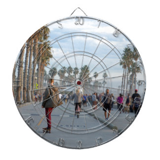 skating to venice beach dartboard