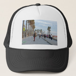skating to venice beach trucker hat