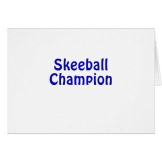 Skeeball Champion Card