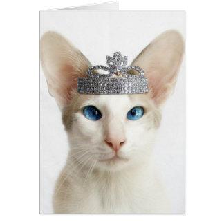Skeezix wearing tiara card