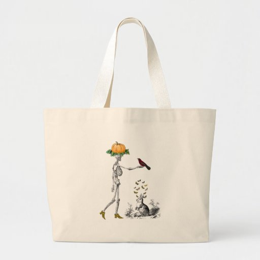 skeleshoes canvas bag