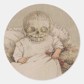 Skeletal Baby Classic Round Sticker