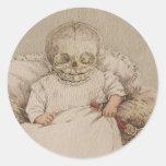 Skeletal Baby Round Sticker