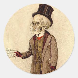 Skeletal Doctor Round Sticker