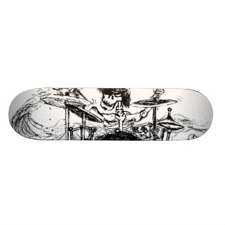 Skeletal Drummer 19.7 Cm Skateboard Deck