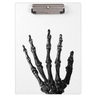Skeletal hand clipboards
