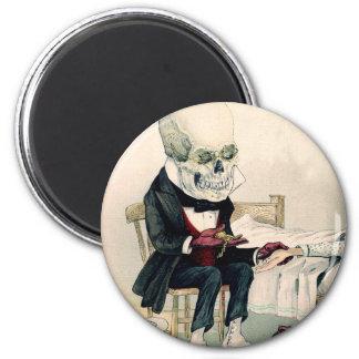 Skeletal Last Rites 6 Cm Round Magnet