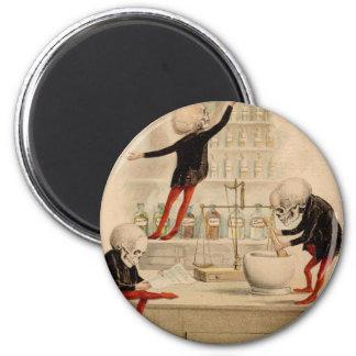 Skeletal Pharmacy 6 Cm Round Magnet