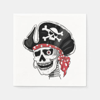 Skeletal Pirate DOD Party Paper Napkins