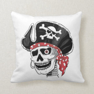 Skeletal Pirate DOD Throw Pillow