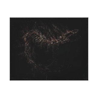 Skeletal Snake Canvas Print