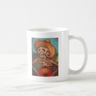 skeleto con accordion y burro coffee mug