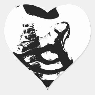 Skeleton #4 heart sticker
