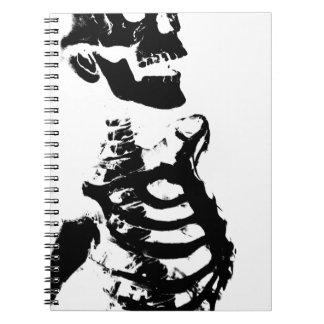 Skeleton #4 spiral notebook