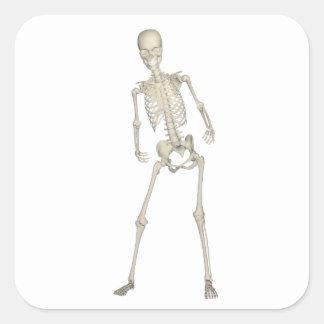 Skeleton #7 square sticker