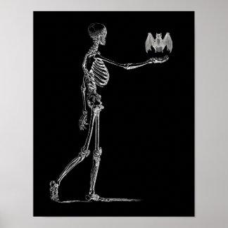Skeleton and Bat Poster