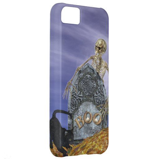 Skeleton and Grave Stone Case For iPhone 5C