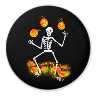 Skeleton and Jack-O-Lanterns cabinet knobs