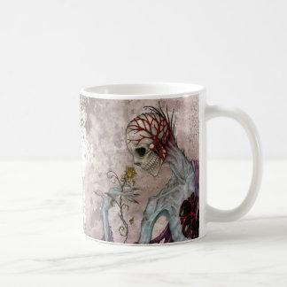 Skeleton and Rose Coffee Mugs