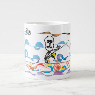 Skeleton Angler Large Coffee Mug