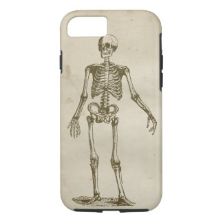 Skeleton Antique Stained Parchment Retro Bones iPhone 8/7 Case