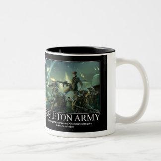 Skeleton Army Two-Tone Mug