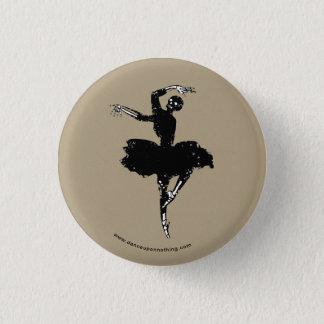 skeleton ballerina 3 cm round badge