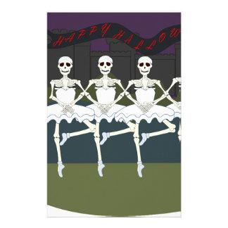 Skeleton Ballerinas Personalized Stationery