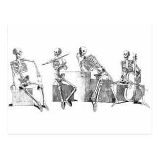 Skeleton band postcard