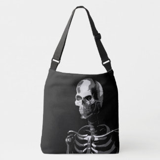 Skeleton black and white crossbody bag