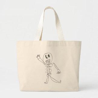 Skeleton Bob Large Tote Bag