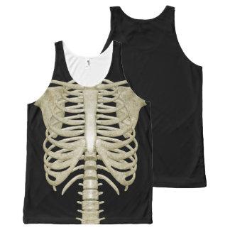 Skeleton Bones Rib Cage Halloween Party Costume All-Over Print Tank Top