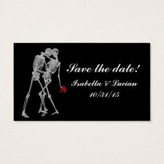 Skeleton Bride and Groom RSVP cards
