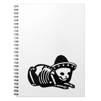 Skeleton Cat Siesta Notebook