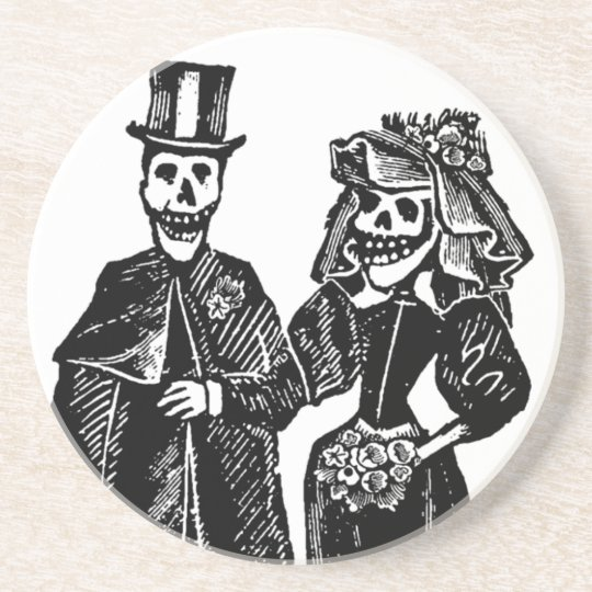Skeleton Couple - Coaster