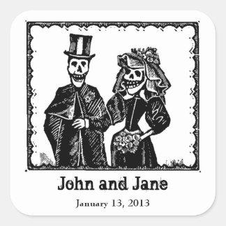Skeleton Couple - Tag Sticker (Customize)