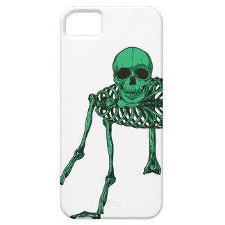 Skeleton Creepy Yoga Skull Dancing Barely There iPhone 5 Case