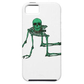 Skeleton Creepy Yoga Skull Dancing Tough iPhone 5 Case
