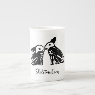 Skeleton Crew Bunnies Tea Cup