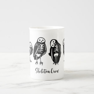 Skeleton Crew Owl Quartet Tea Cup