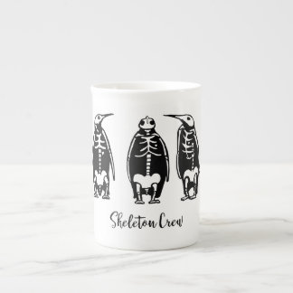 Skeleton Crew Penguin Trio Tea Cup