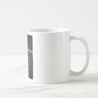 skeleton cross basic white mug