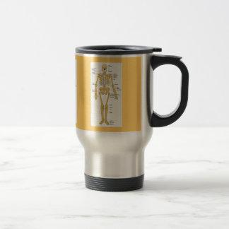 Skeleton Diagram Stainless Steel Travel Mug