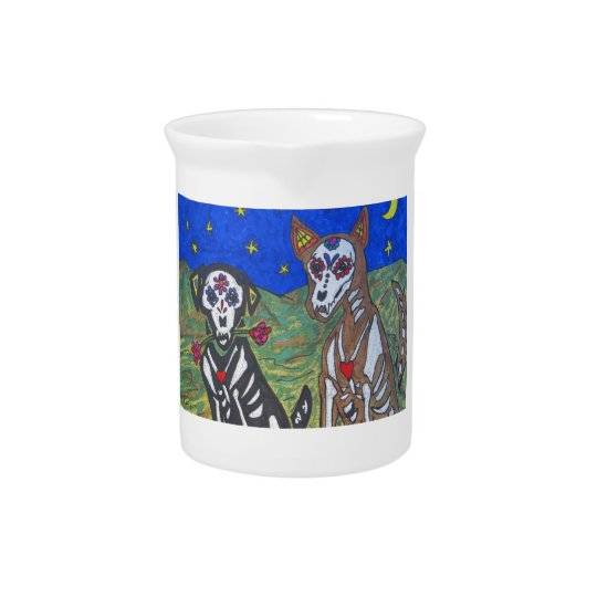 Skeleton Dogs Pitcher