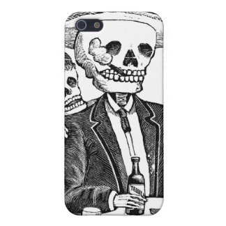 Skeleton Drinking Tequila and Smoking iPhone 5 Cover