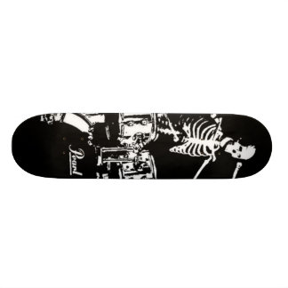 skeleton drum skate skateboards