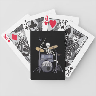 Skeleton Drummer Bicycle Playing Cards