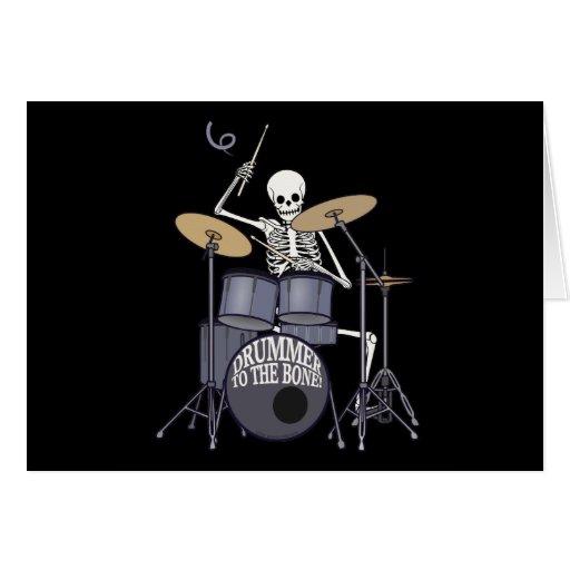 Skeleton Drummer Greeting Cards