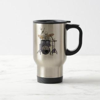 Skeleton Drummer Stainless Steel Travel Mug